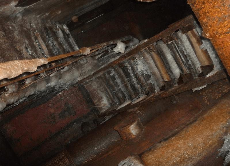 В шахтах сохраняется практически нулевая температура даже летом