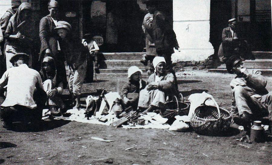 Овощной рынок в Чите. Фото 1922 года американского журналиста