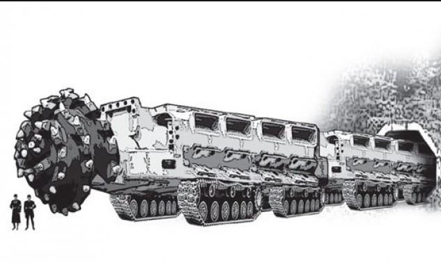 Рисунок немецкого проекта  «Змей Мидгарда»