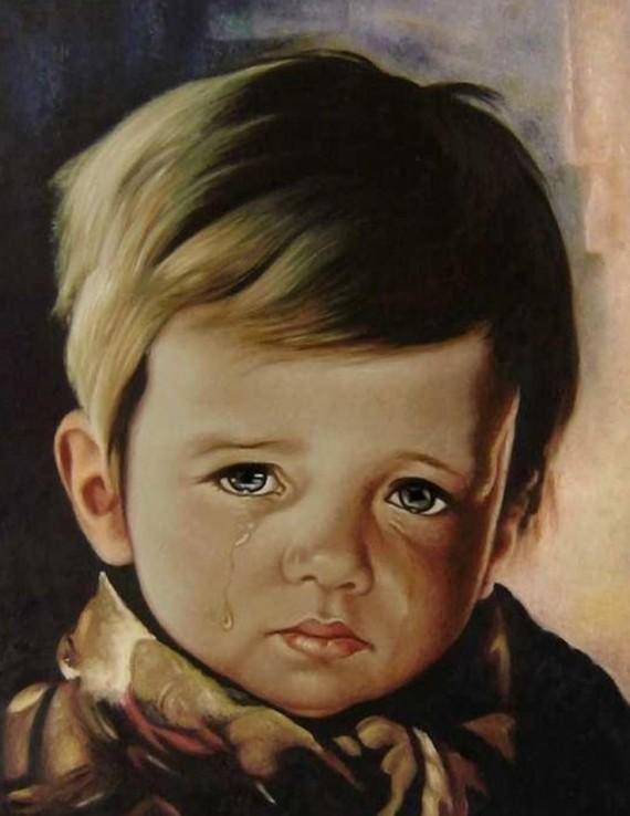 """Проклятые картины итальянского художника """"Плачущий мальчик"""""""